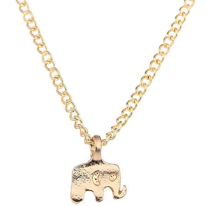 Buy fashion good lucky elephant pendant necklace gold plated good lucky elephant pendant necklace gold plated statement necklace women jewelry aloadofball Gallery