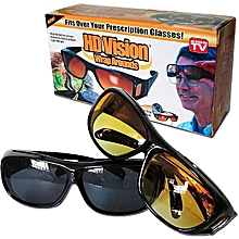 Set of Two HD Vision Day and Night Vision  Glasses