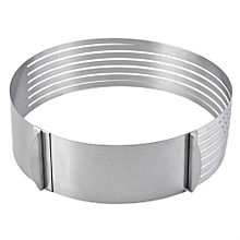 Adjustable Round Stainless Steel Cake Ring Mold Layer Slicer Cutter DIY