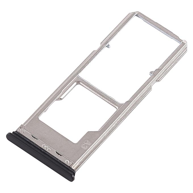 2 x SIM Card Tray + Micro SD Card Tray for Vivo Y53(Black)