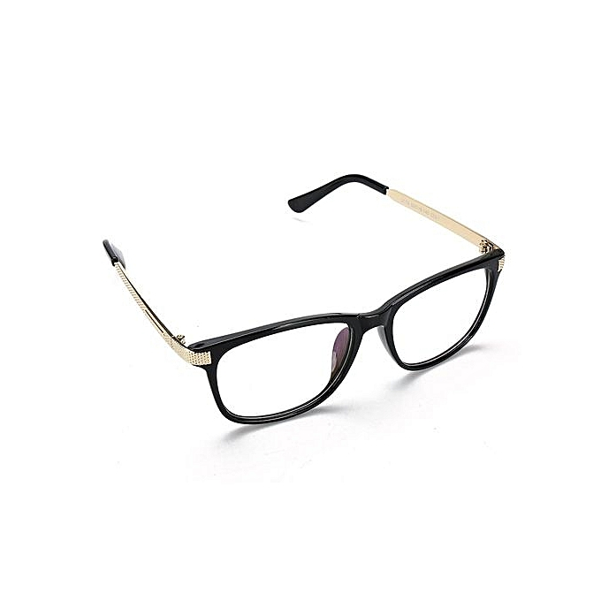 1eac4f86a7f ... Retro Unisex Eyeglass Frame Full-Rim Glasses Clear Lens Metal Women Men  Designer Bright Black ...