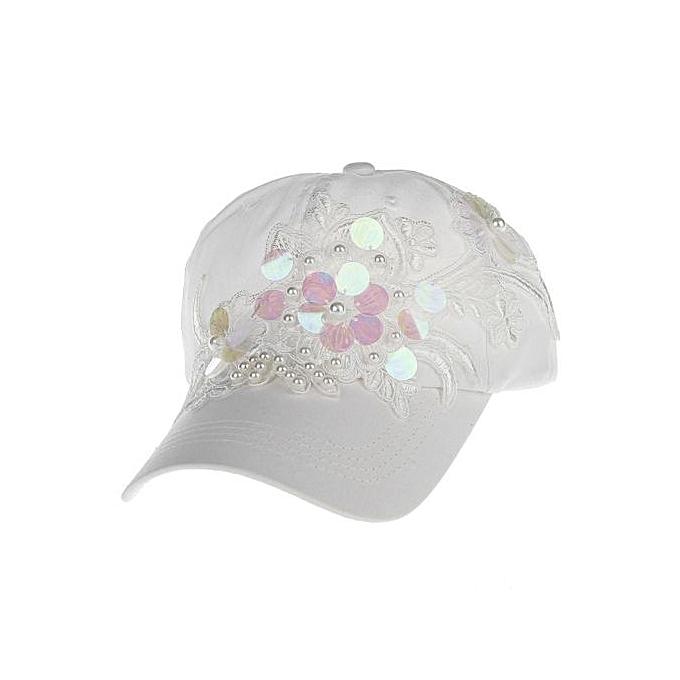 Generic Women Diamond Floral Baseball Cap Unisex Snapback Hip Hop ... b4470ea751a