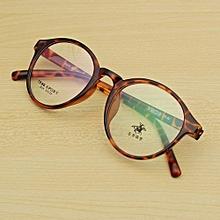 Men Women Retro Eyeglasses Frame Full-Rim Glasses Vintage Eyewear Clear Lens HOT Leopard