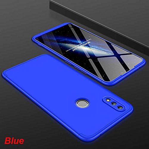 For Huawei Honor 8X Hard Combo Dual Armor Full Protection Slim Hybrid Matte  Case Cover Casing (Blue)