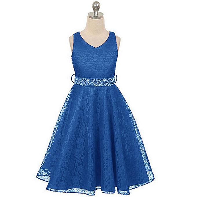 bd07e5b4d75fa Girl Lace Dress-Blue