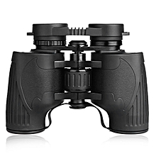 FQ 8×36 HD Binocular Porro BAK - 4 With Center Focusing System For Outdoor Camping Traveling - Black