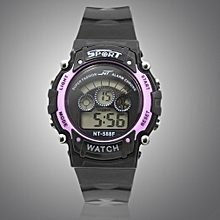Fashional Multifunctional Children's Waterproof Electronic Watch For Sports-Purple