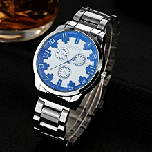 McyKcy Fashionable Male Simple Stainless Steel Analog Quartz Wrist Watch B-Multicolor