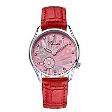 new fashion elegant pink leather watchband women quartz watches female watch women lucky wrist watches lady
