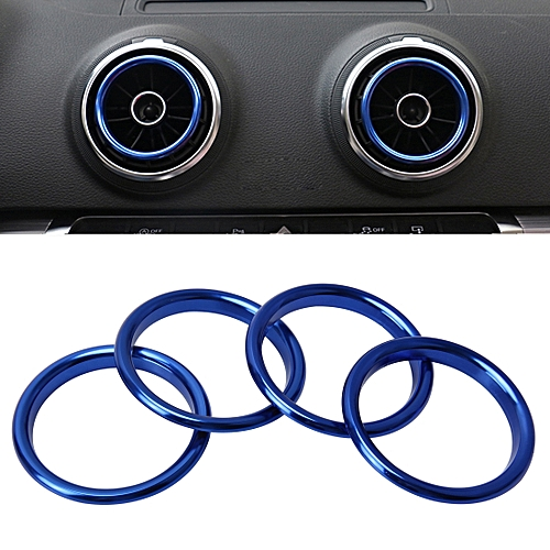 Generic 4 Pcs Car Outlet Decorative Rings Aluminum Alloy Air Outlet
