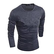 Men's Long Sleeve Base Shirt (Dark Grey)