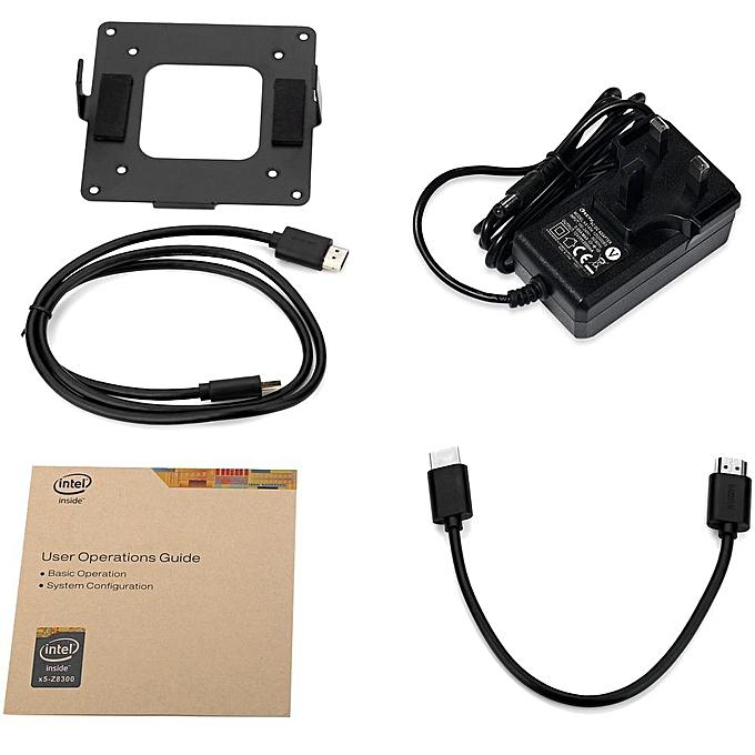 Z83II Mini PC Intel Atom x5-Z8350 Quad Core Windows 10 64bit 2 4G + 5 8G  WiFi(UK PLUG) (Black) YCMI-A