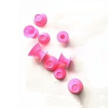 20PCS Of Pink Magic Hair Reel No Clip No Hot Silicone Hair Curlers Professional Hair Tools