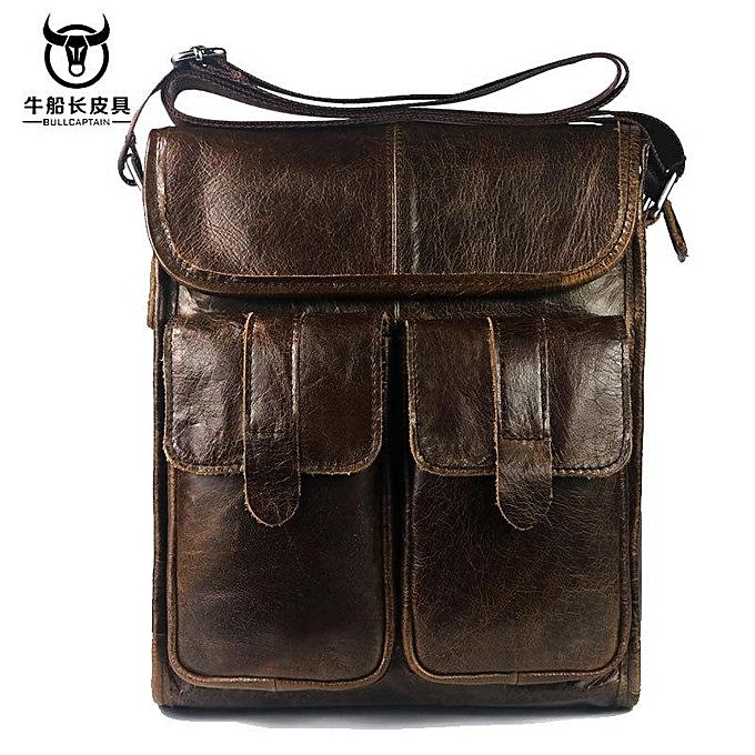 f7465435a8b Generic Ekphero Genuine Leather Men Bags Vintage Retro Messenger Bag ...