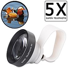 Super 5X Portrait Photography Telescope Lens Digital Camera Clip-on Zoom Lens for IPhone Xiaomi ST5X
