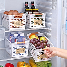 Plastic Kitchen Refrigerator Basket Fridge Storage Rack Freezer Shelf Holder Bathroom Desktop Storag
