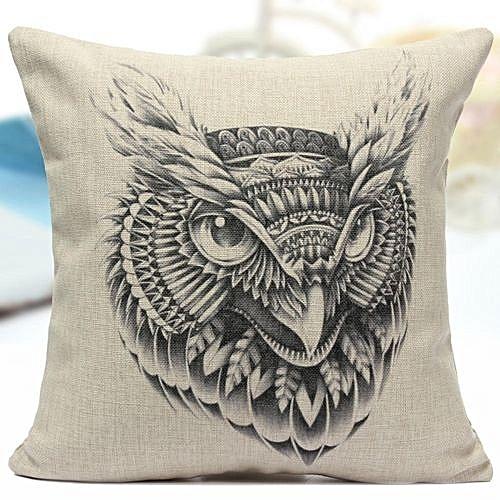 Abstract Animal Cartoon Black Cotton Linen Pillow Case Throw Sofa Cushion Cover