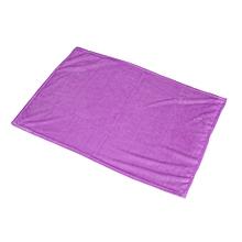 70X100cm Solid Color Blanket Coral Fleece Comfortable Home Bed Sofa Blanket light purple