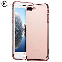 Ultra Slim Electroplate Plating TPU Case For IPhone 7 Plus - Rose Gold