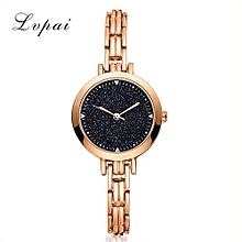 Luxury Women's  LVPAI Wrist Watches Classic Ladies Women Unisex Stainless Steel Rhinestone Quartz Wrist Watch C-Gold