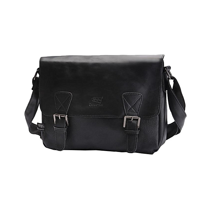 d002236864f Three-box Fashion Business Men PU Leather Flap-Over Cross Body Bag  Messenger Shoulder
