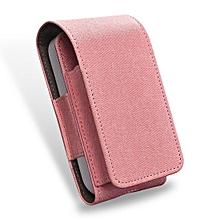 DUX DUCIS Stylish Denim Texture PU Leather Protective Case for IQOS Electronic Cigarette(Pink)