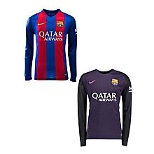 Barcelona 16-17 - Home Kitplus Away Kit Long Sleeve