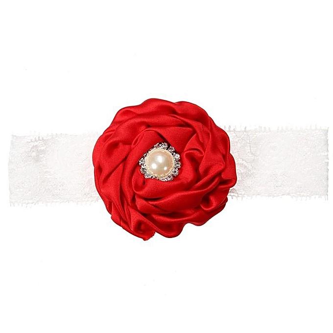 56907bb22840 ... Kids Baby Girl Toddler Cute Lace Pearl Flower Headband Hair Band  Headwear HOT ...