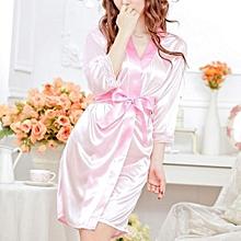 1 Set Fashion Underwear Pajamas Sexy Sleepwear Set Lace Lingerie Satin Nightdress