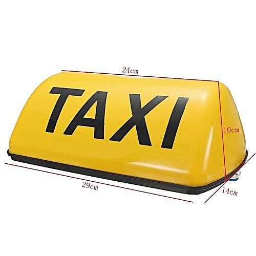 Taxi Roof Sign Magnetic Taximeter Cab Top Lamp DC 12V White Light