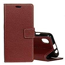 Litchi Texture Horizontal Flip Leather Case for iPhone XS Max, with Holder & Card Slots & Wallet (Brown)