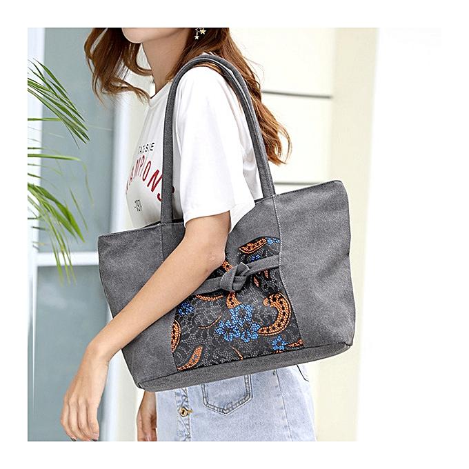 Fashion KVKY Women Canvas Print Designer Tote Handbag New Shoulder ... 5a7008cc51632