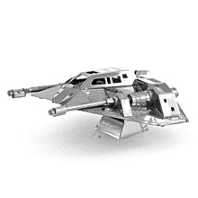 Aipin DIY 3D Puzzle Stainless Steel Model Kit SNOWSPEEDER Silver Color -