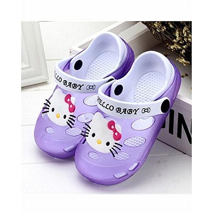 5d375584c3f4 Kids Cartoon Sandals Children Slippers Soft Sole Flip Flops Non-slip Hollow  Beach Shoes Outdoor