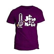 Hii Joto Ni Ya Mvua Purple   Printed T-Shirt Design