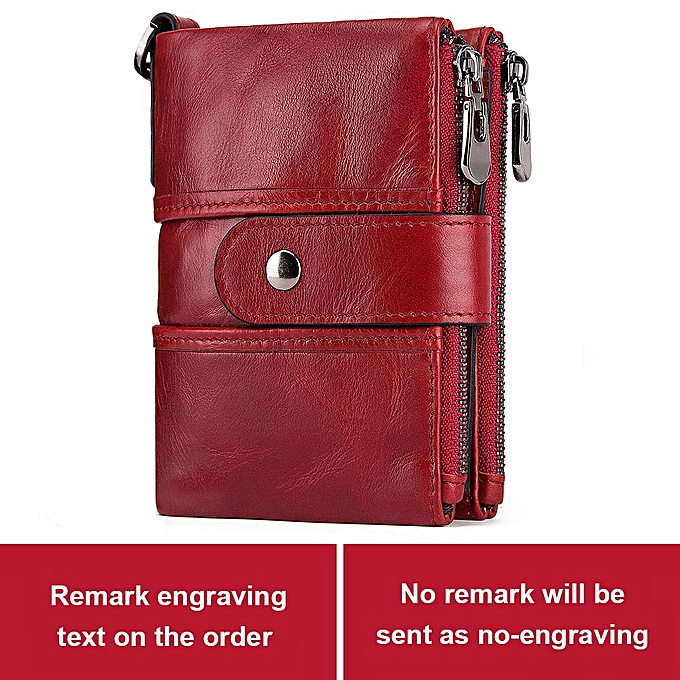 a1108ec10a84 KAVIS Leather Free Engraving Rfid Wallet Men Crazy Horse Wallets Coin Purse  Short Male Money Bag Mini Walet Quality