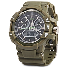 Men Digital Luminous Quartz Watch - Green