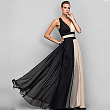 Maxi Dress Sexy Strap Backless Party Cocktail Dress - Multi