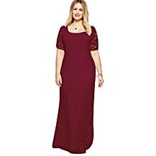 women woman lady gril super plus size lace long maxi wedding party dinner  dress XL 9e8881bf235c