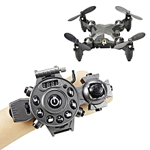 Watch Control RC Drone Mini Foldable Quadcopter Altitude Hold G-sensor Control Headless Mode One Key Return High / Medium / Low Speed-GRAY