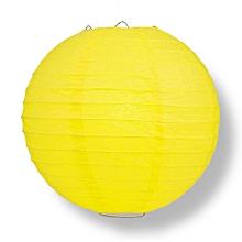 "Chinese Lanterns / Ball Lampshades - Silk Fabric 14"" - Yellow"