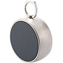 BS-02 - Wireless Portable Metal Bluetooth Speaker With Microphone- Light Gold