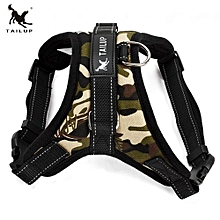 TAILUP Saddle Type Traction Rope Chest Back Adjustable Harness Dog Strape