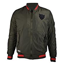 Zip Up Bomber Jacket with Flap Pocket Unisex