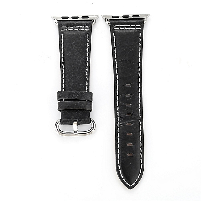 824a301c137 Generic Koaisd Leather Strap Replacement Band Tour Bracelet Watchband For  Apple Watch 42mm BK   Best Price