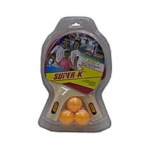 T.T Bat Set (2bats+3 Balls): Sk32825: Super-K