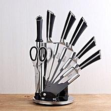 Plan seal Knife Set -8 Pieces - Black