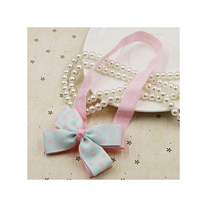 7f9c2625f34 ... Braveayong Kids Baby Girl Head Accessories Hair Band Baby Elastic Bowknot  Headwear LB -Light Blue