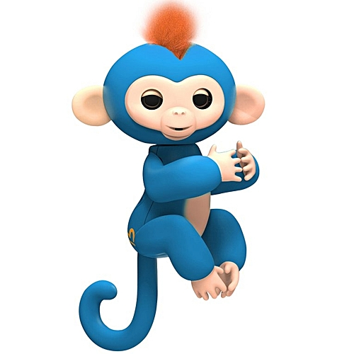 Generic HP Cute Robert Baby Monkey Sound Finger Motion Hanger Toy for Children Gifts Blue