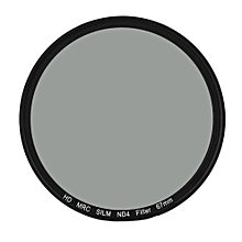 49/52/55/58/62/67/72/77MM ND4 Middle Gray Super Thin Waterproof ND4 Len Filter